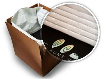 Colis préparé avec emballage isotherme - Zoom
